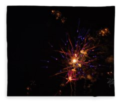 Fireworks Snap Crackle Pop Fleece Blanket