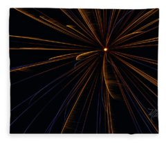 Fireworks Sputnik Fleece Blanket