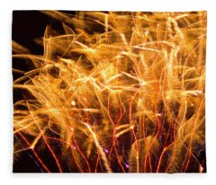 Fireworks Wheat Fleece Blanket