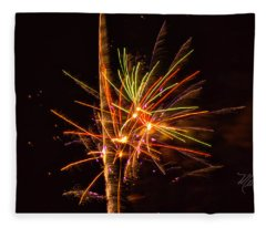 Fireworks Happy New Year Fleece Blanket