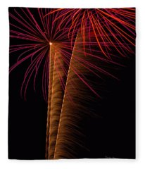 Fireworks Zoom Fleece Blanket