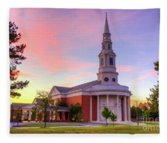 First Baptist Church Of Augusta Sunset Fleece Blanket