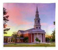 First Baptist Church Of Augusta Sunset Fleece Blanket
