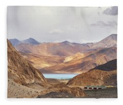 Fleece Blanket featuring the photograph First Glimpse by Whitney Goodey