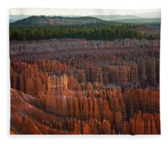 First Light On The Hoodoo Inspiration Point Bryce Canyon National Park Fleece Blanket