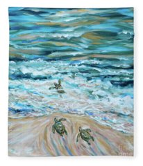 First Plunge Baby Sea Turtles Fleece Blanket