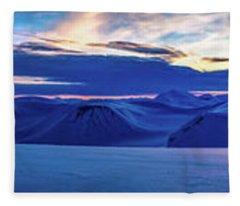 First Sun After Polar Night Fleece Blanket