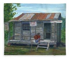 Fish Store, Natchitoches Parish, Louisiana Fleece Blanket