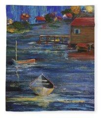 Fishermen's Retreat Fleece Blanket