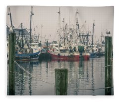Fleece Blanket featuring the photograph Fishing Boats by Steve Stanger