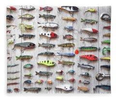 Fishing Lures - Dwp2669219 Fleece Blanket