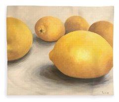 Five Lemons  Fleece Blanket