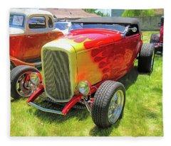 Flamed Red 1932 Ford Roadster Fleece Blanket