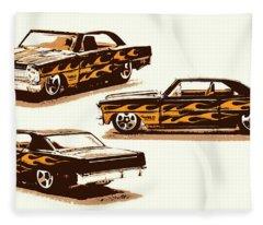 Flamin Chevrolet 66 Nova Fleece Blanket