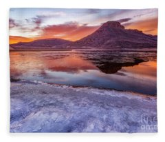 Flatiron Reservoir Sunrise Fleece Blanket