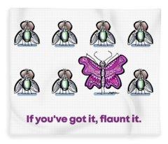Flaunt It No. 1 Fleece Blanket