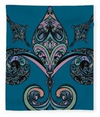 Fleur-de-lis Fleece Blanket