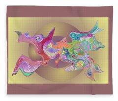 Flight Of Evolution V2 Fleece Blanket