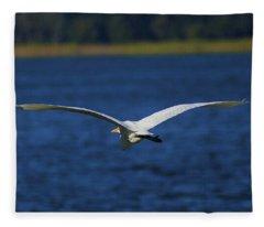 Flight Of The Egret Fleece Blanket