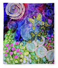 Flight Of The Lunar Moths Fleece Blanket