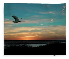 Flight To The Lake Fleece Blanket