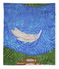 Floating Feather Fleece Blanket