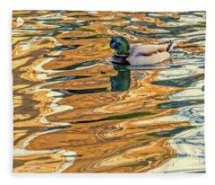 Floating In Color Fleece Blanket