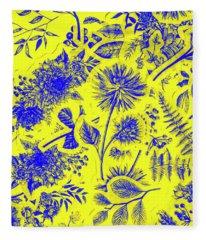 Flora And Foliage Fleece Blanket
