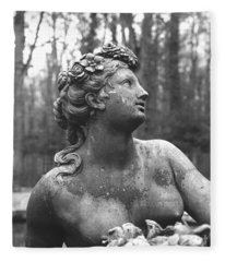 Flora Goddess Of Flowers And Spring Fleece Blanket