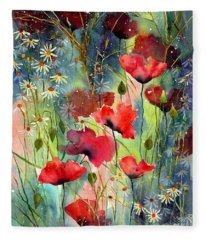 Floral Abracadabra Fleece Blanket