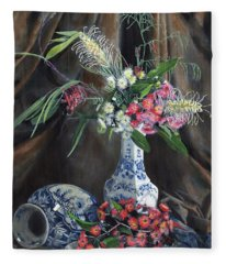 Floral Arrangement Fleece Blanket