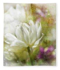 Floral Dust Fleece Blanket