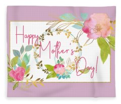 Floral Mother's Day Art Fleece Blanket