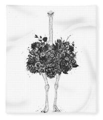 Floral Ostrich Fleece Blanket