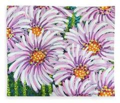 Floral Whimsy 1 Fleece Blanket