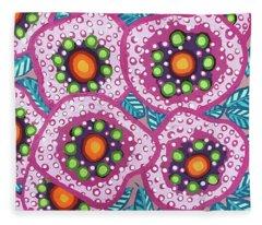 Floral Whimsy 10 Fleece Blanket