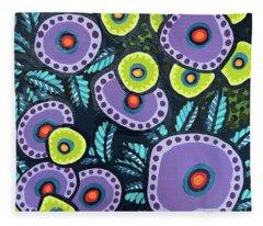 Floral Whimsy 12 Fleece Blanket