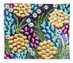 Floral Whimsy 2 Fleece Blanket