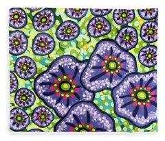 Floral Whimsy 4 Fleece Blanket