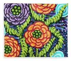 Floral Whimsy 5 Fleece Blanket