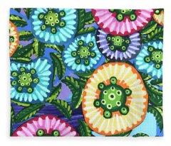 Floral Whimsy 6 Fleece Blanket