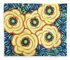 Floral Whimsy 7 Fleece Blanket