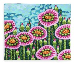 Floral Whimsy 8 Fleece Blanket