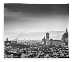 Florence Black And White Fleece Blanket