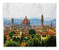 Florence Impasto Fleece Blanket