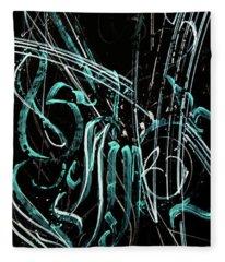 Florescence. Calligraphic Abstract Fleece Blanket