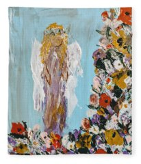 Flower Child Angel Fleece Blanket