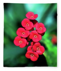 Flower Parade Fleece Blanket