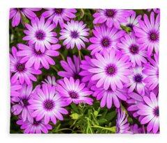 Flower Patterns Collection Set 04 Fleece Blanket
