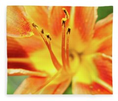 Flower Pollen Fleece Blanket